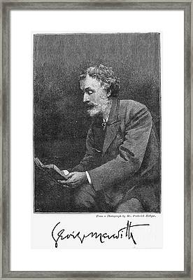 George Meredith (1828-1909) Framed Print by Granger