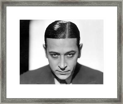 George Raft, Paramount Pictures, 1933 Framed Print