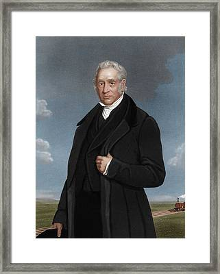 George Stephenson, British Engineer Framed Print by Maria Platt-evans