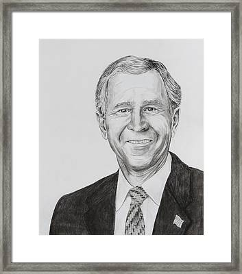 George W. Bush Framed Print by Daniel Young
