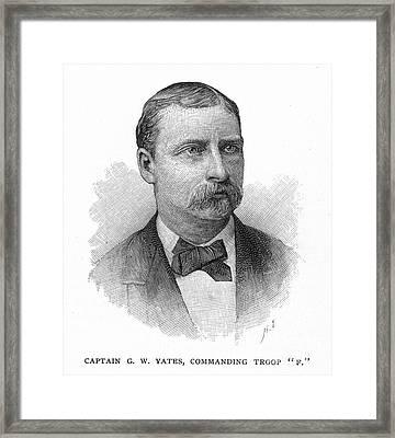 George W. Yates (d.1876) Framed Print by Granger