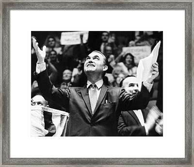 George Wallace Acknowledges The Cheers Framed Print by Everett