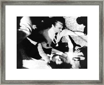 George Wallace Was Shot Four Times Framed Print by Everett