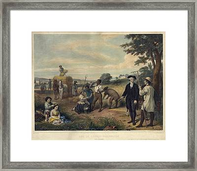 George Washington As A Plantation Framed Print