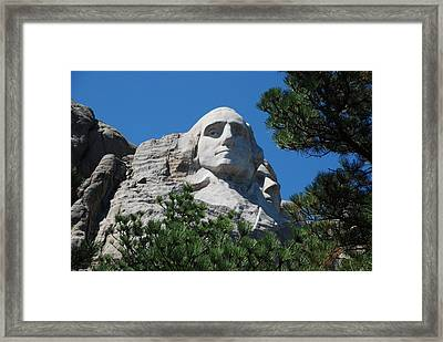 Framed Print featuring the photograph George Washington Face  by Dany Lison