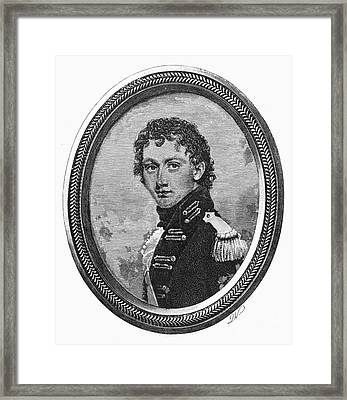 George Washington Parke Custis (1781-1857). American Playwright And Grandson Of Martha Washington. Line Engraving, 19th Century Framed Print by Granger