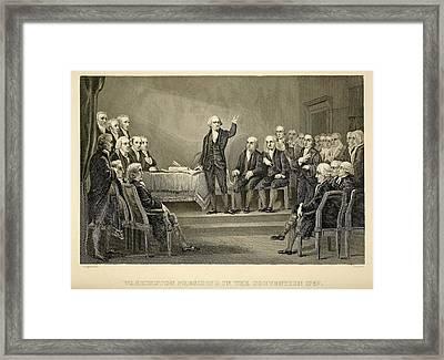 George Washington Presiding Framed Print