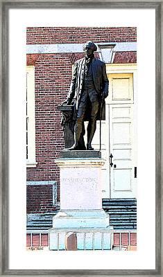 George Washington Framed Print by Rick Thiemke
