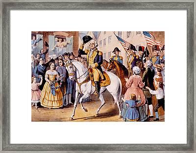 George Washingtons Entry To Assume Framed Print
