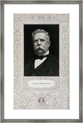 George Westinghouse, American Engineer Framed Print