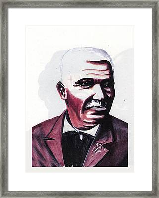 Georges Washington Carver Framed Print by Emmanuel Baliyanga