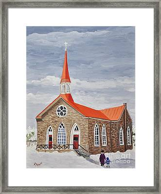Georgetown Presbyterian Church Framed Print by Reb Frost