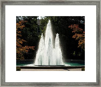 Georgia Herty Field Fountain On Uga North Campus Framed Print by Replay Photos