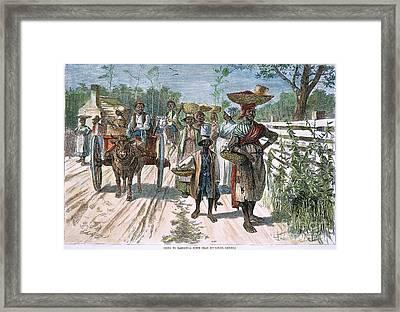 Georgia: Market, 1875 Framed Print