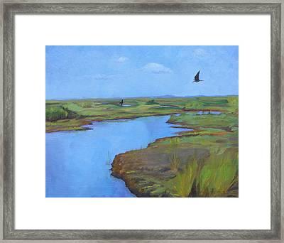 Framed Print featuring the painting Georgia Marsh by Rachel Hames