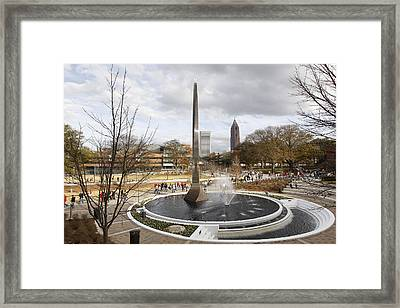 Georgia Tech Kessler Campanile Framed Print by Getty Images