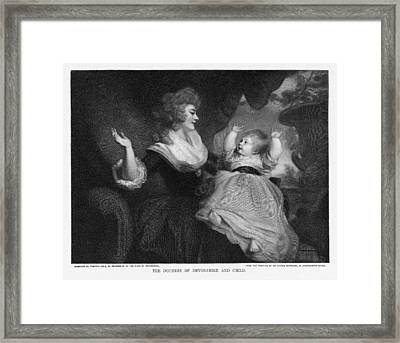 Georgiana, Duchess Of Devonshire Framed Print by Miriam And Ira D. Wallach Division Of Art, Prints And Photographsnew York Public Library