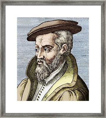 Georgius Agricola, German Mineralogist Framed Print by Sheila Terry