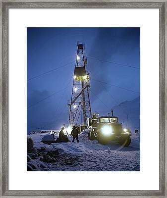 Geothermal Power Station Drilling Framed Print by Ria Novosti