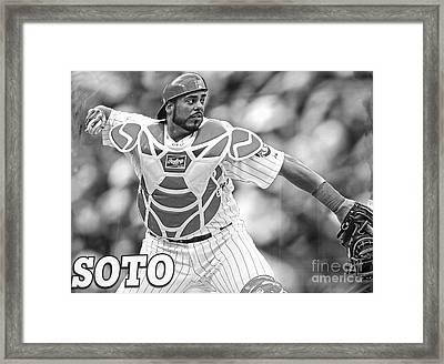 Geovany Soto Framed Print by David Bearden