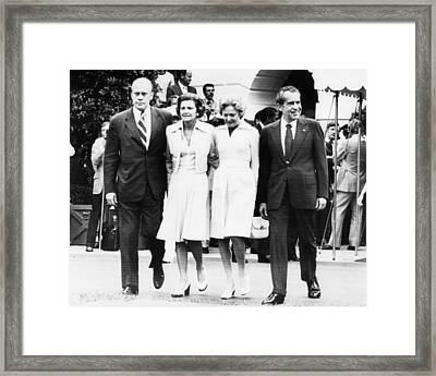 Gerald Ford Inauguration.  From Left Framed Print by Everett