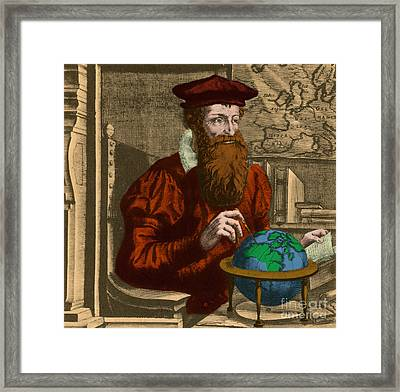 Gerardus Mercator, Flemish Cartographer Framed Print by Photo Researchers, Inc.