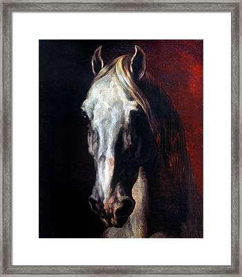 Gericault: White Horse Framed Print by Granger