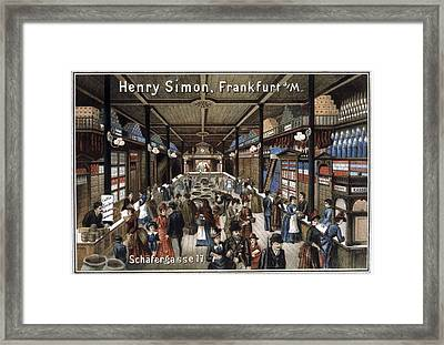 German Grocery Store, Historical Artwork Framed Print by Cci Archives