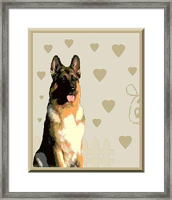 German Shepherd Framed Print by One Rude Dawg Orcutt