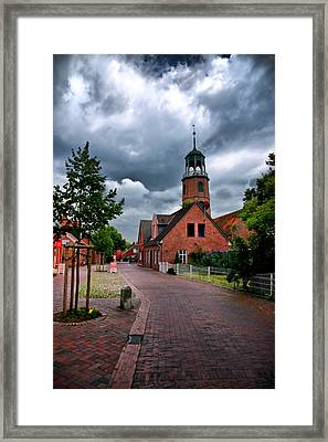 Framed Print featuring the photograph German Town by Edward Myers