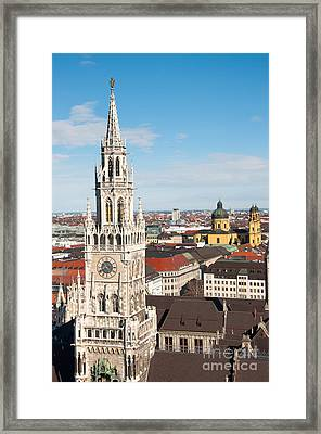 Framed Print featuring the photograph German Town Hall by Andrew  Michael