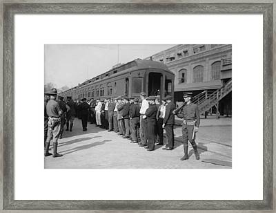 Germans In Hoboken, New Jersey, Rounded Framed Print by Everett