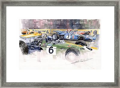 Germany Gp Nurburgring 1969 Framed Print by Yuriy  Shevchuk
