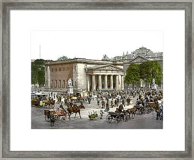 Germany, The New Guard And Street Framed Print by Everett