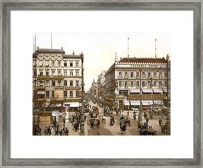Germany, The Victoria Hotel, Unter Den Framed Print