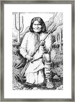 Geronimo Framed Print by Gordon Punt
