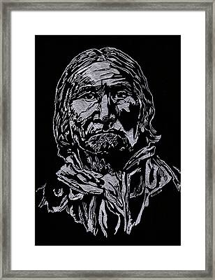 Geronimo Framed Print by Jim Ross