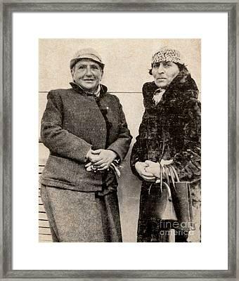 Gertrude Stein And Alice B. Toklas Framed Print