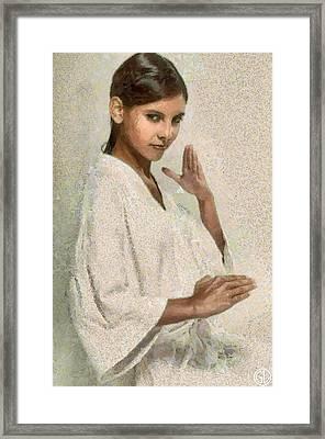 Gesture Framed Print by Gun Legler