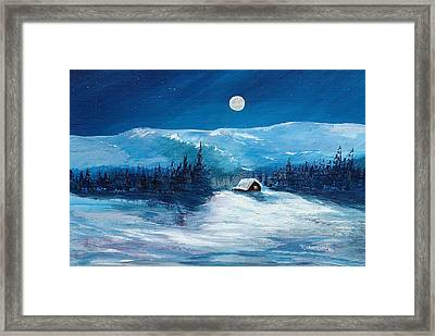 Get Away Cabin Framed Print