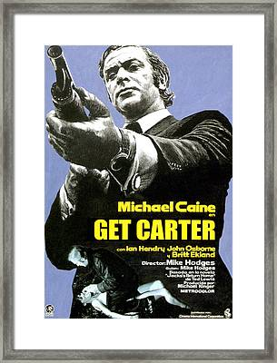 Get Carter, Michael Caine, 1971 Framed Print by Everett