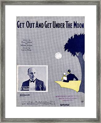 Get Out And Get Under The Moon Framed Print by Mel Thompson