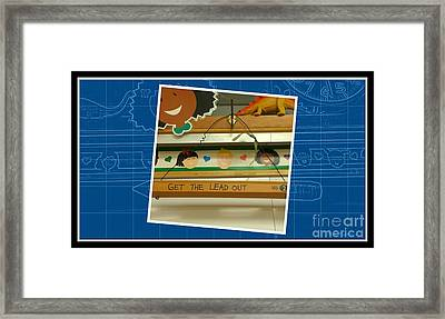 Get The Lead Out Blueprint Framed Print by Michelle Frizzell-Thompson