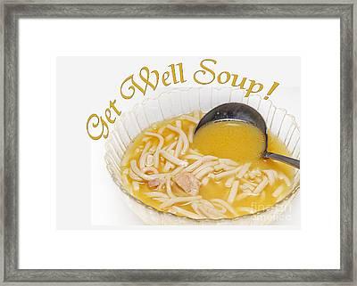 Get Well Soup Framed Print
