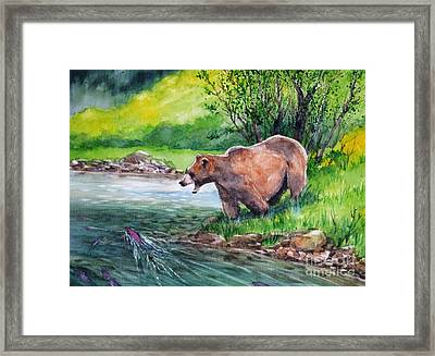 Getting Breakfast Framed Print