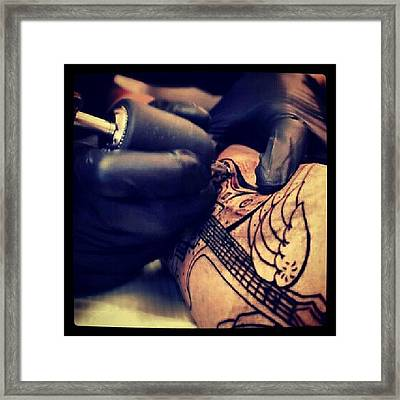 Getting Inked :) #inked #tattoo #girl Framed Print