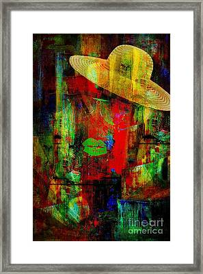 Getting Ready To Download A Fool Framed Print by Fania Simon