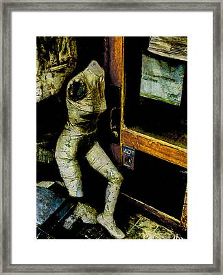Getting Ready To Run Framed Print by Steve Taylor