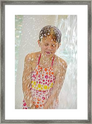 Getting Splashed Framed Print by Maria Dryfhout