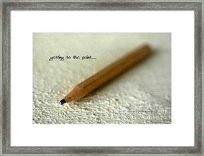 Getting To The Point... Framed Print by Vicki Ferrari
